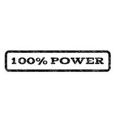 100 percent power watermark stamp vector