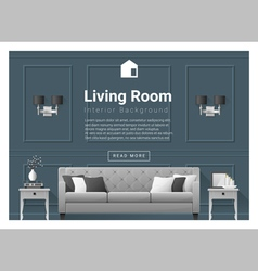 Living room interior background 5 vector