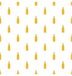 Bottle of beer pattern cartoon style vector