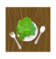 Greens meal vector