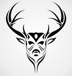 Deer head tattoo design vector