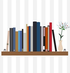 Book shelf vector