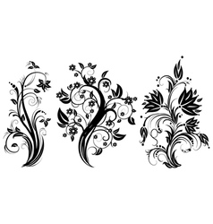 Stylized floral tree vector