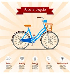 Benefits of ride a bicycle vector
