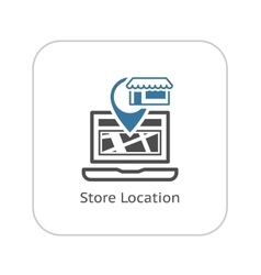 Store location icon flat design vector