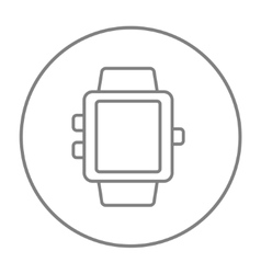 Smartwatch line icon vector