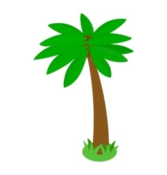 Tropical palm tree icon isometric 3d style vector