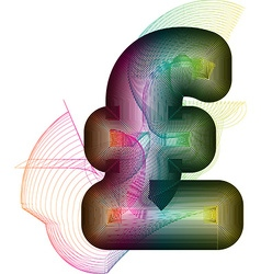 Abstract colorful pound sign vector