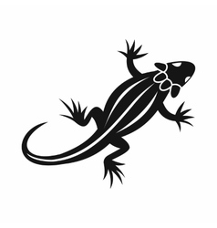 Lizard icon simple style vector