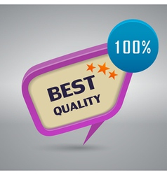best quality decorative stamp vector image vector image
