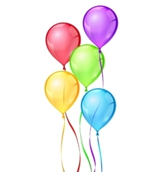 color birthday party balloons vector image vector image