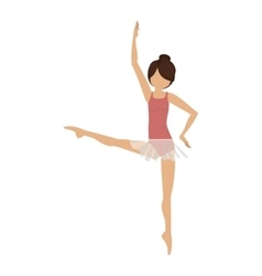 Colorful dancer fourth position developed vector