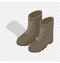 Combat military boots isometric icon vector