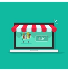 Concept of online shop e-commerce internet store vector