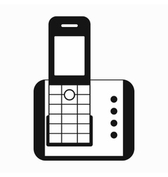Cordless phone icon simple style vector