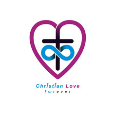 Everlasting christian love and true belief in god vector