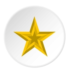 Five pointed star icon flat style vector