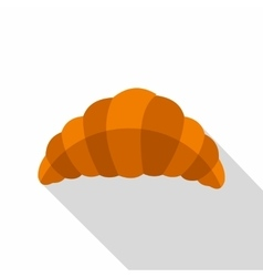 Fresh and tasty croissant icon flat style vector image
