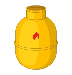 Gas bottle icon cartoon style vector image