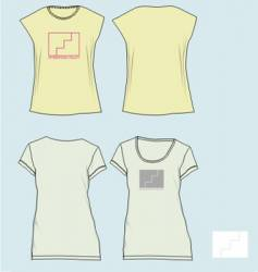 girl tees vector image