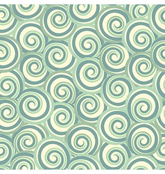 Green abstract seamless pattern with swirls vector image