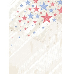 Grunge usa background with stars vector