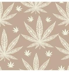 Hemp Cannabis Leaf seamless pattern vector image