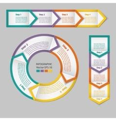 Infographics Process chart module vector image
