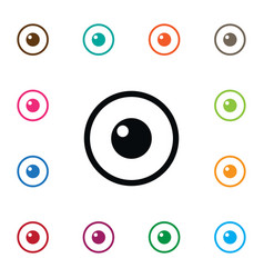 Isolated eye icon look element can be used vector