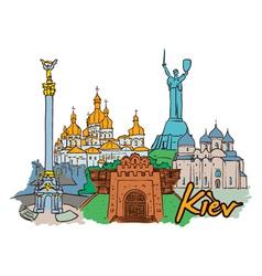 Kiev doodles vector