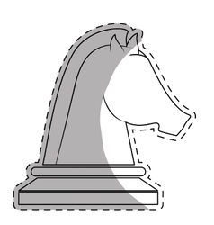 Knight chess piece icon image vector