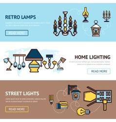 Light banners set vector