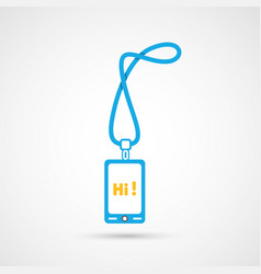 Modern colorful flat social icon of smartphone vector