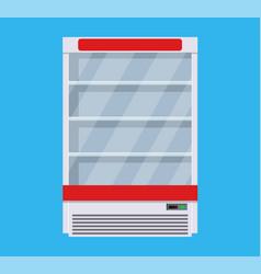 modern commercial fridge vector image vector image
