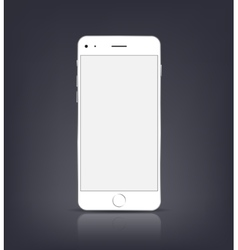 New realistic smartphone mockup with blank screen vector
