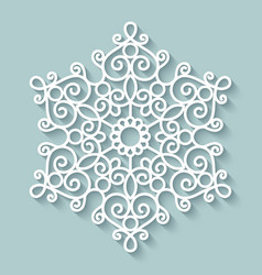 Paper lace doily vector