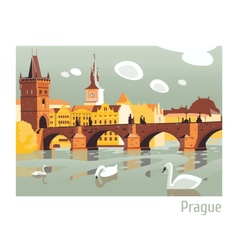 Prague charles bridge vector