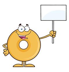 Protesting Donut Cartoon vector image