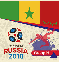 Russia 2018 wc group h senegal background vector