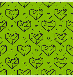 Seamless pattern with heart geometry style vector