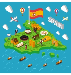Spain Isometric Map vector image