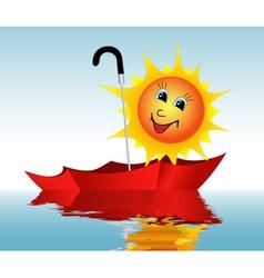 Sun in an umbrella vector image vector image