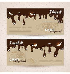 sweet background Hand drawn vector image vector image