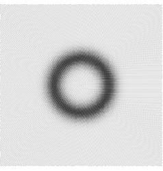 Torus with halfrone effect vector