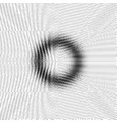 torus with halfrone effect vector image