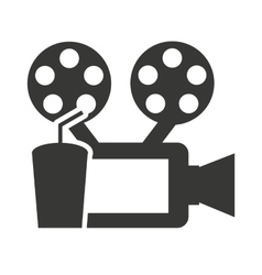 Camera video with cinema icon vector