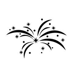 fireworks splash isolated icon vector image
