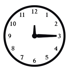 Round wall clock icon simple style vector