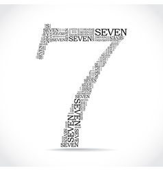 number seven created from text vector image
