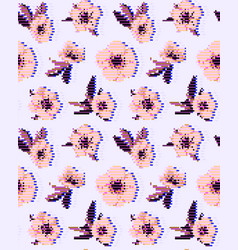 Anemone flower seamless pattern eps vector